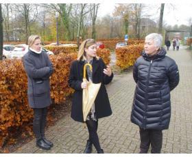 B. Kymantaitė, M. Decory ir J. Kučinskienė AAP centre, Nyderlandai