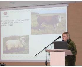 Žemės ūkio ministerijos Gyvulininkystės skyriaus vyriausioji specialistė Kristina Paliutienė.