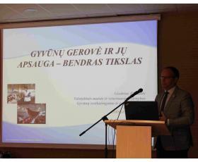 VMVT Gyvūnų sveikatingumo ir gerovės skyriaus vyriausiasis veterinarijos gydytojas-valstybinis veterinarijos inspektorius Giedrius Blekaitis.