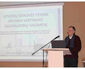 Savivaldybių asociacijos patarėjas dr. Gediminas Vaičionis.